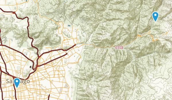 Metropolitana, Chile Map