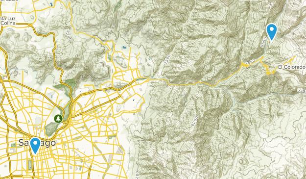 Metropolitana, Chile Cities Map
