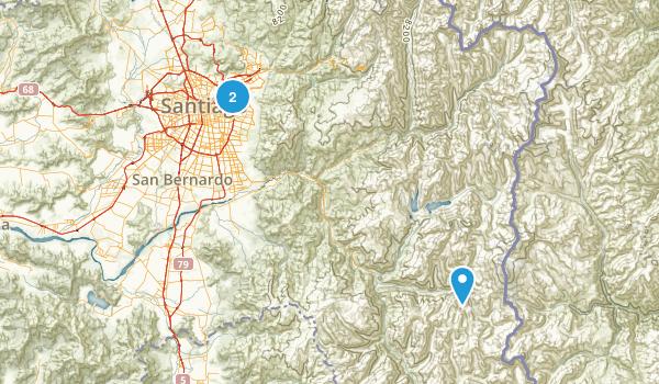 Santiago Metropolitan, Chile Map