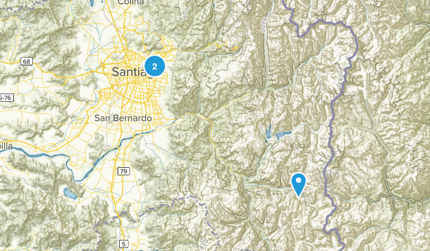 Santiago Metropolitan, Chile Cities Map