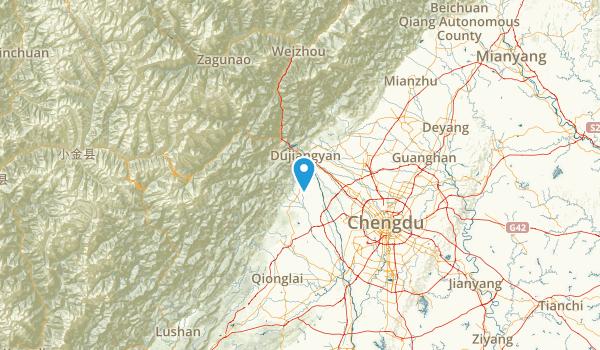 Sichuan, China Map