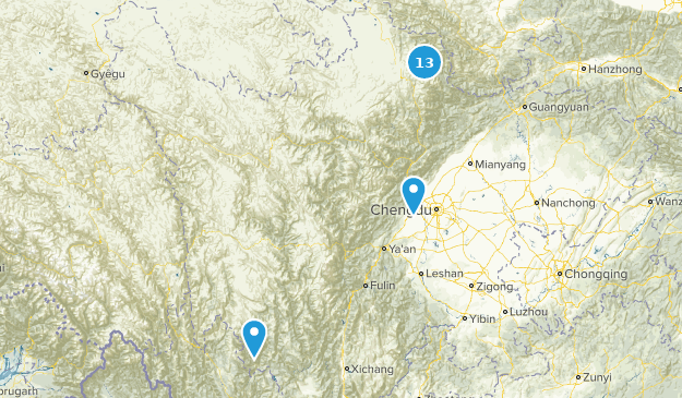 Sichuan, China Cities Map