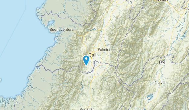 Valle del Cauca, Colombia Map