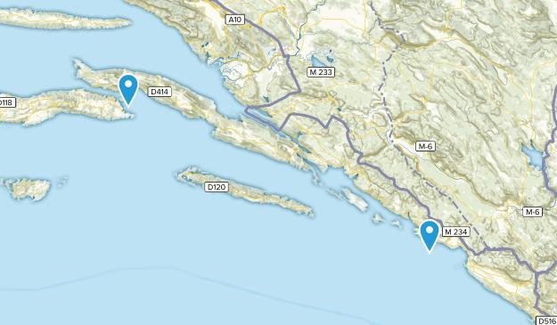 Dubrovacko-neretvanska, Croatia Cities Map