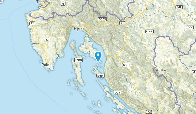Primorsko-goranska županija, Croatia Map