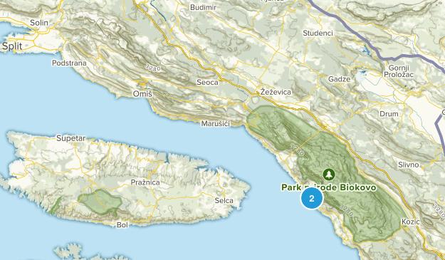 Splitsko-Dalmatinska, Croatia Cities Map