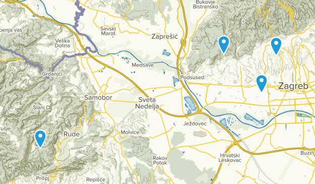 Zagrebacka županija, Croatia Cities Map
