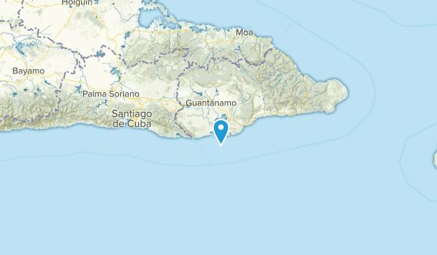 Guantanamo Bay Naval Base, Cuba Map