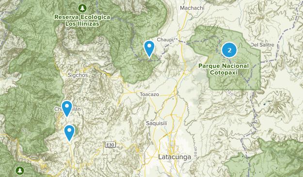 Cotopaxi, Ecuador Map