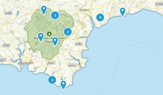 Devon, England Cities Map