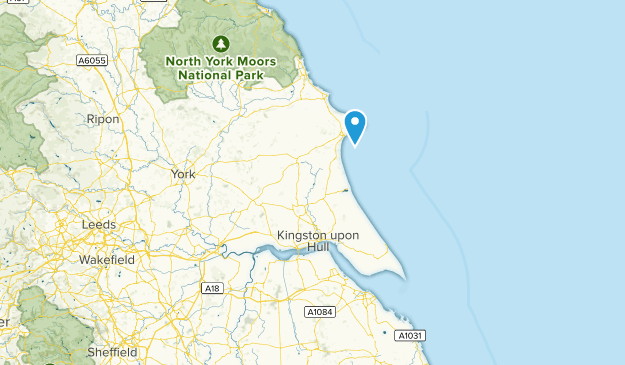 East Riding of Yorkshire, England Cities Map