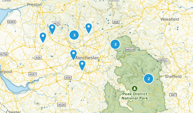 Greater Manchester, England Cities Map