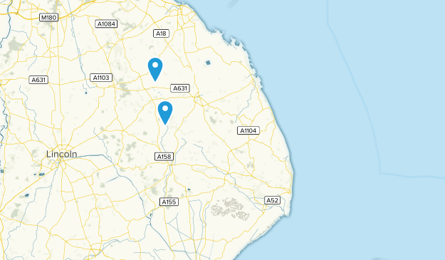 Lincolnshire, England Cities Map