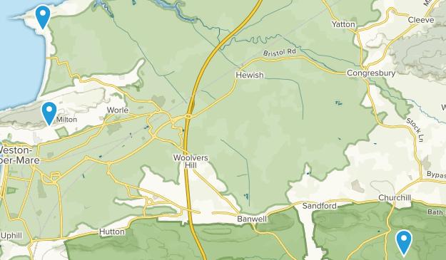 North Somerset, England Map
