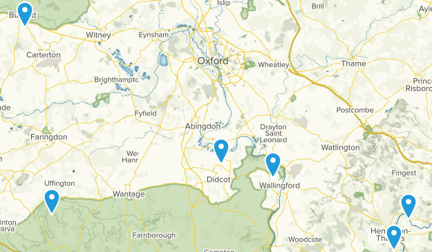 Oxfordshire, England Cities Map