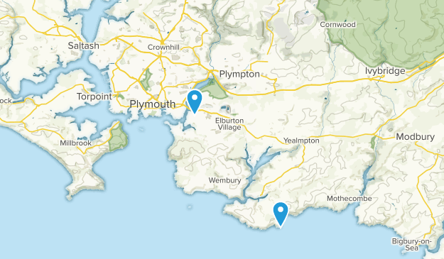 Plymouth, England Map
