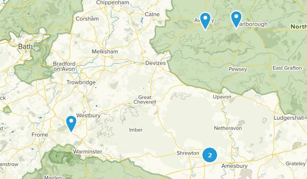 Wiltshire, England Map