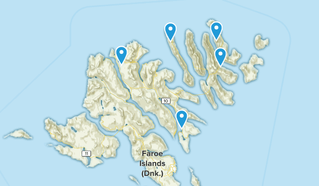 Eysturoy, Färöer Cities Map