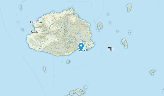 Central Division, Fiji Map