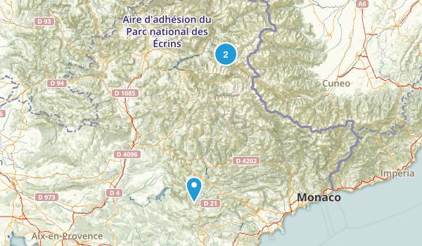 Alpes-de-Haute-Provence, France Map