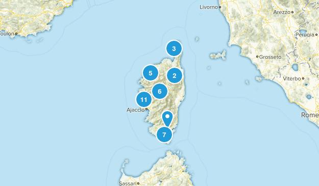 Corsica, France Map