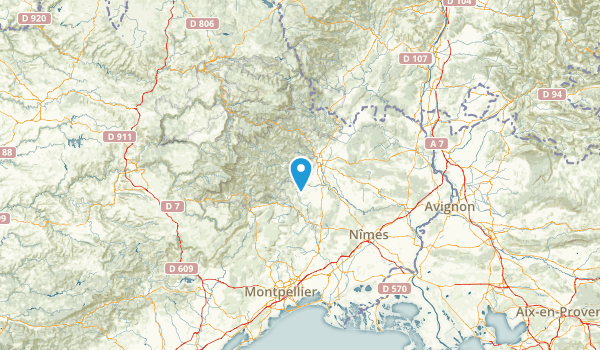Gard, France Map