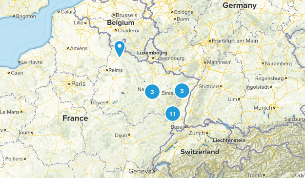 Grand Est, Frankreich Map