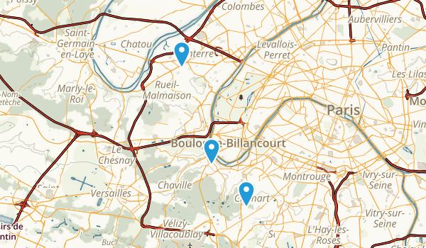 Hauts-de-Seine, France Map