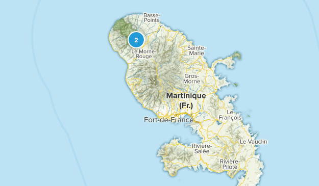 Martinique, France Cities Map