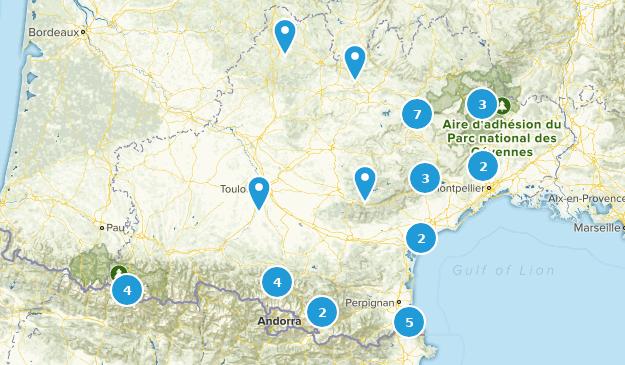 Occitanie, France Cities Map