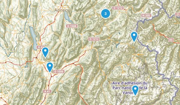 Savoie, France Map