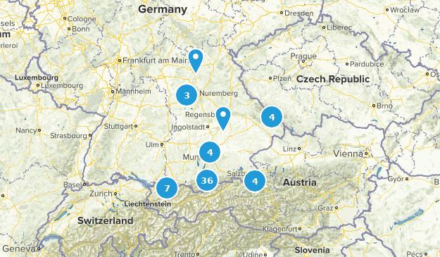 Bayern, Germany Cities Map