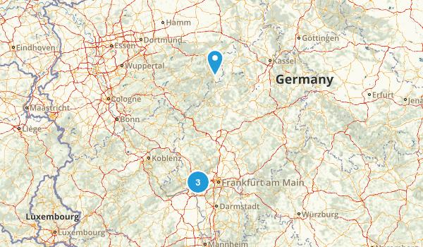 Hessen, Germany Map