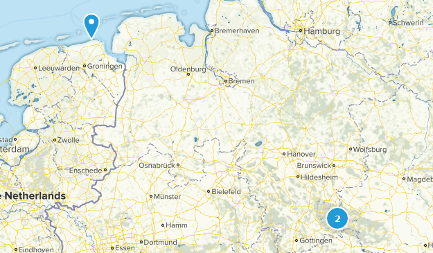 Lower Saxony, Germany Cities Map