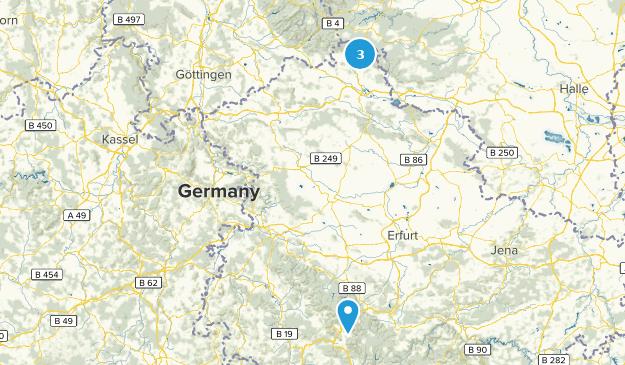 Thüringen, Germany Map