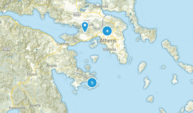 Attica, Greece Cities Map
