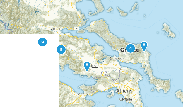 Central Greece, Greece Cities Map
