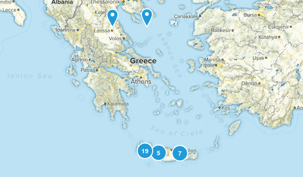 Crete, Greece Map