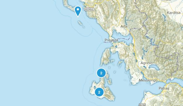 Ionian Islands, Greece Map