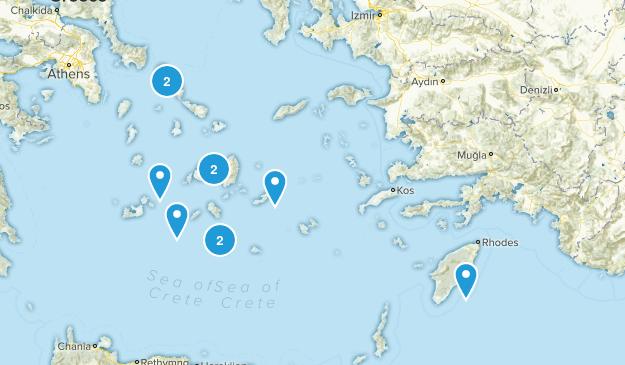 South Aegean, Greece Map