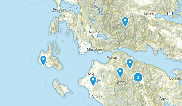 Western Greece, Griechenland Cities Map