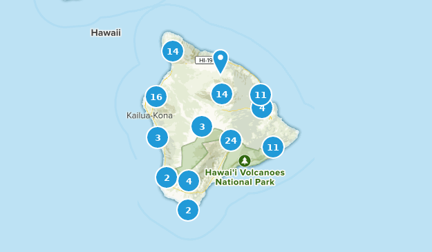Hawaii, Hawaii Cities Map