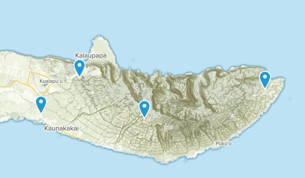 Molokai, Hawaii Cities Map