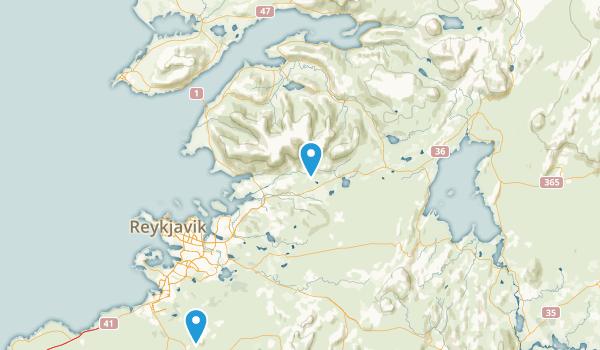 Höfuðborgarsvæði, Iceland Map