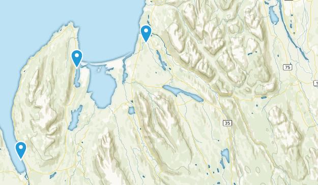 Norðurland vestra, Iceland Map