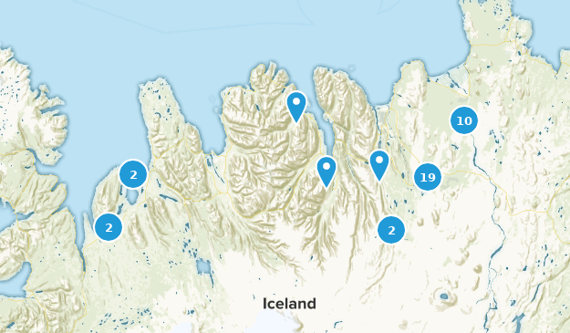 Norðurland eystra, Island Map