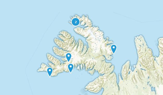 Westfjords, Iceland Map