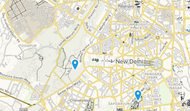 Delhi, India Map