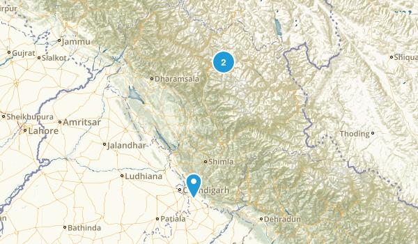 Himachal Pradesh, India Map