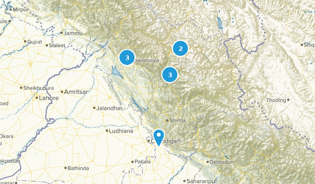Himachal Pradesh, India Cities Map